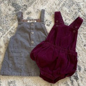 Baby girl Corduroy Dress and Romper